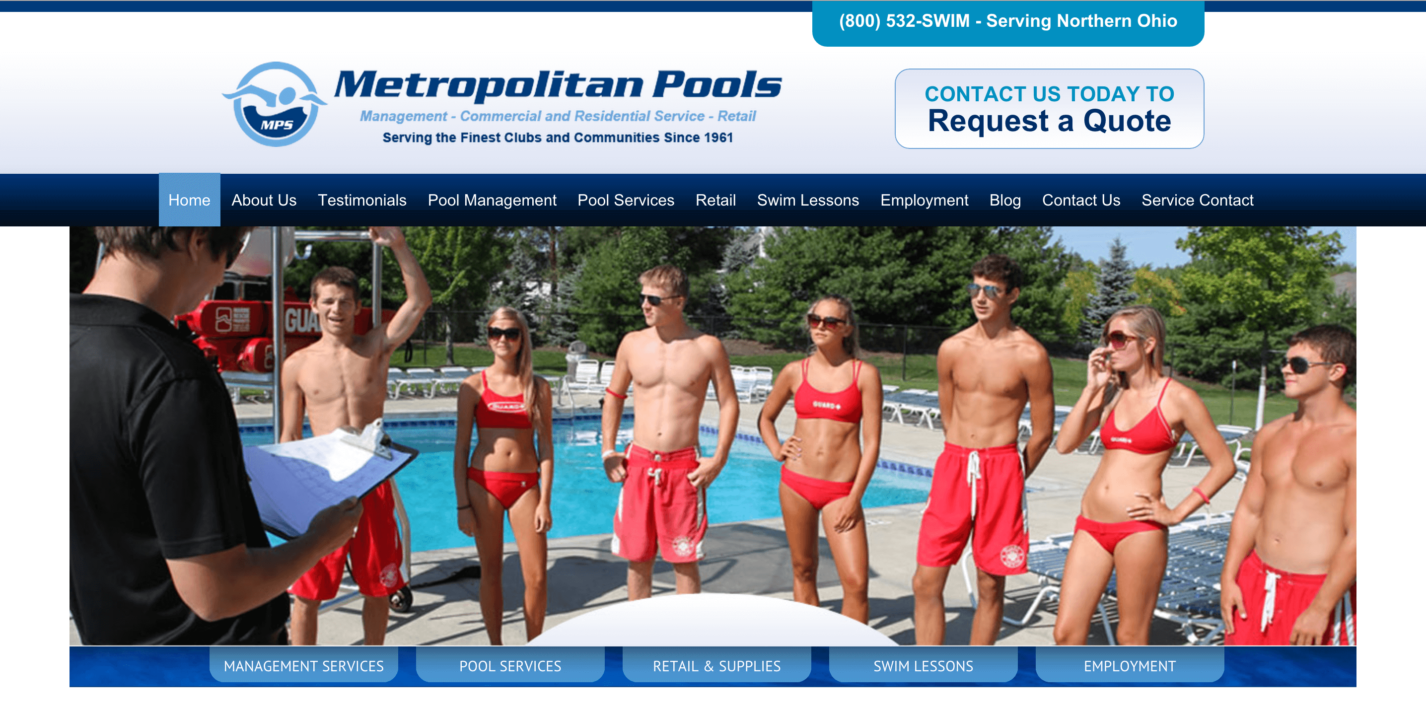 Client Profile: Metropolitan Pools |  Pool Marketing Site by Small Screen Producer Digital and Inbound Marketing Agency Houston