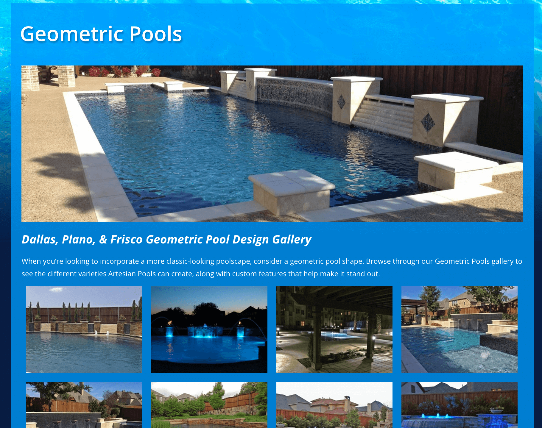 Client Profile: Artesian Custom Pools | Small Screen Producer Digital and Inbound Marketing Agency Houston