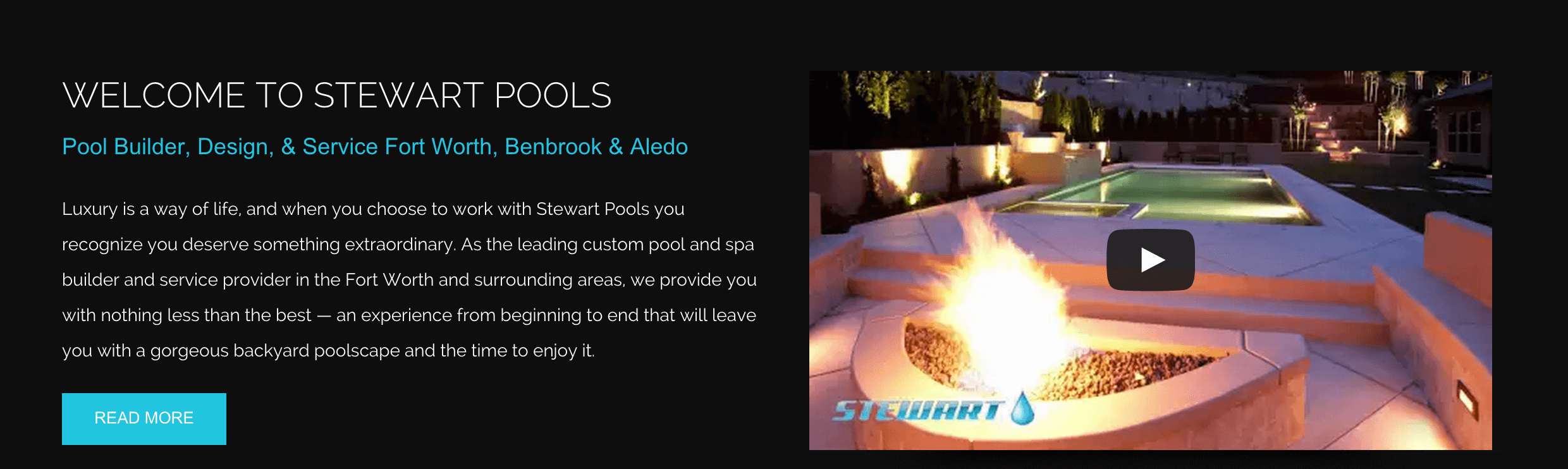 Pool Marketing Site Client Profile: Stewart Pools | Pool Marketing Site Digital Media and Inbound Marketing Agency Houston Texas