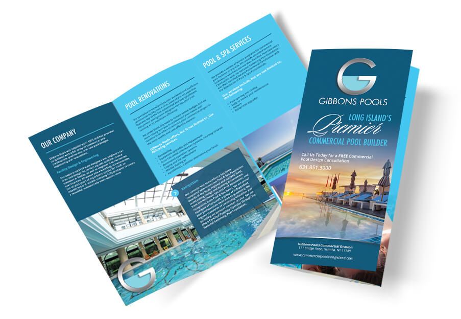 graphic design services logos banners brochures pool marketing