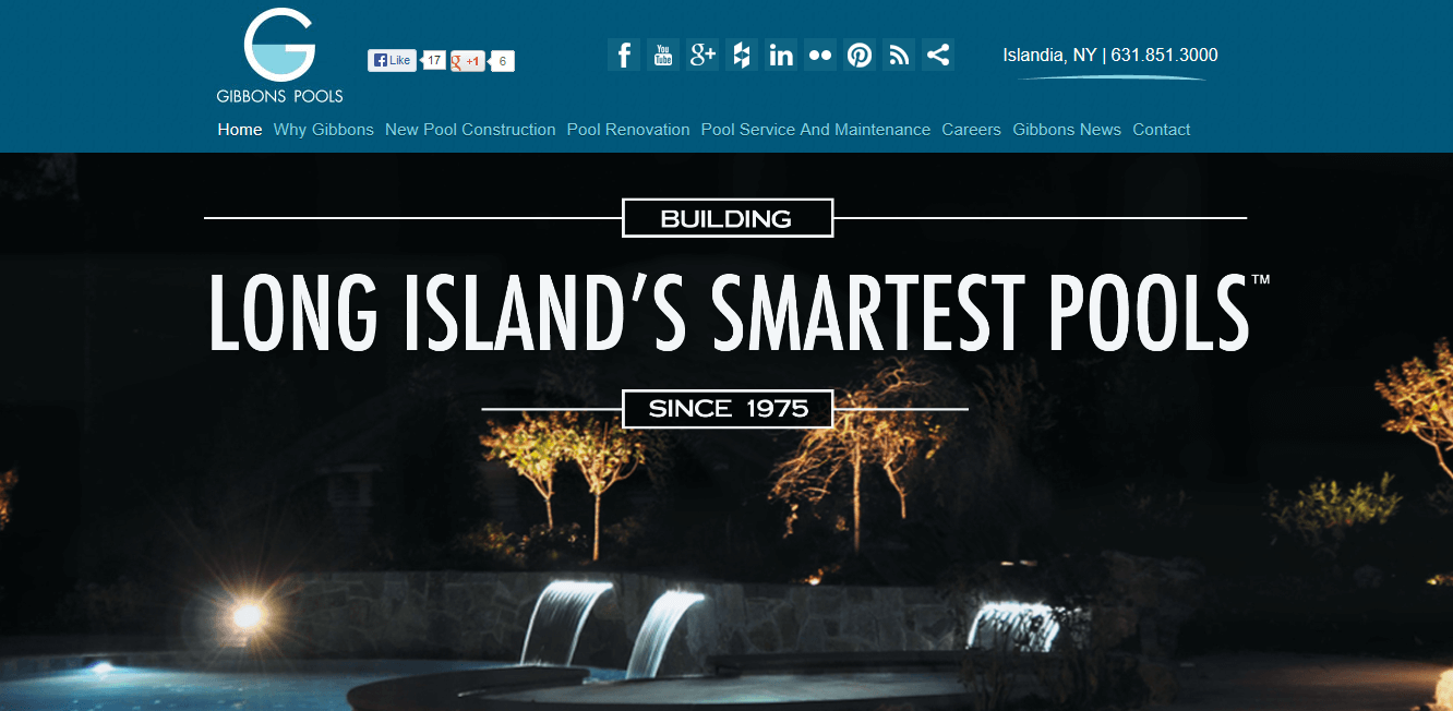 Gibbons Pools Website Long Island New York