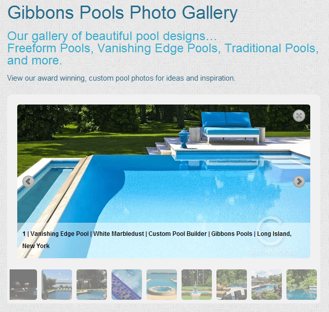 Gibbons Pools Pool Gallery Long Island New York