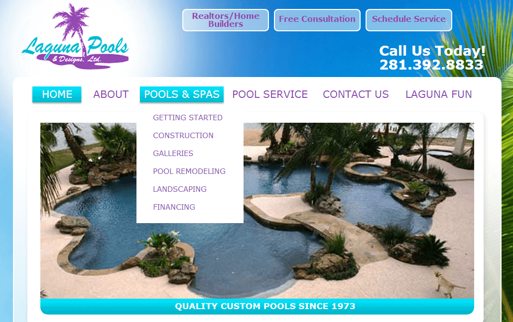 Client Profile: Laguna Pools | Small Screen Producer Digital and Inbound Marketing Agency Houston