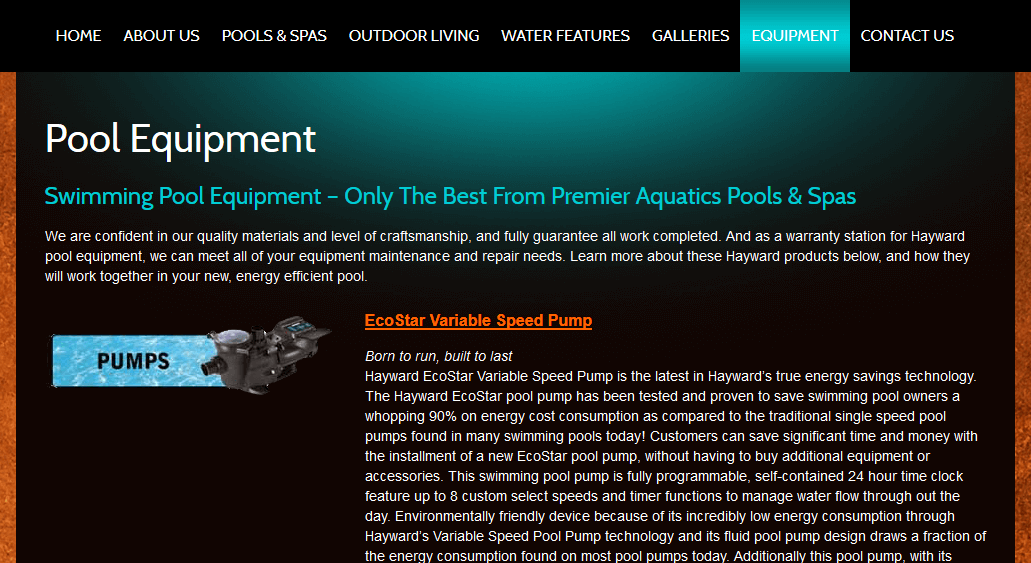 Client Profile: Premier Aquatics | Pool Marketing Site Digital and Inbound Marketing Agency Houston