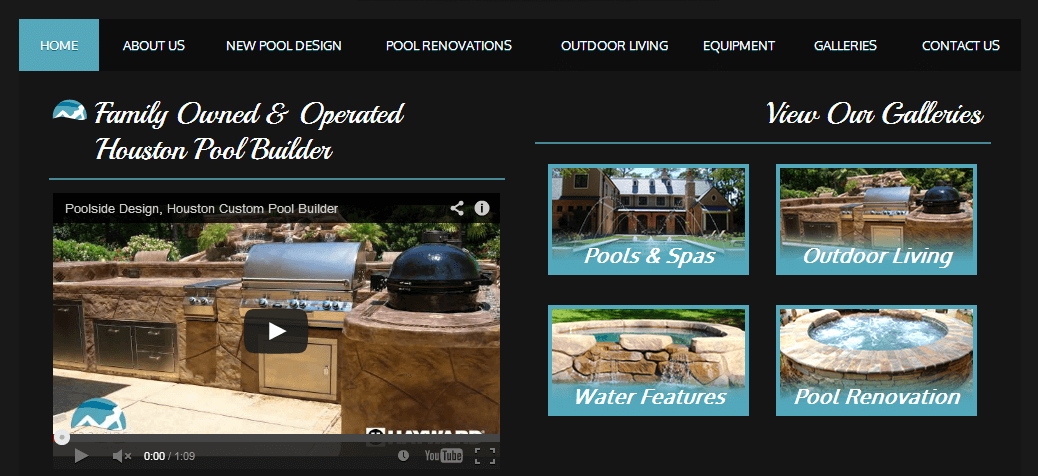 Client Profile: Poolside Designs | Small Screen Producer Digital and Inbound Marketing Agency Houston