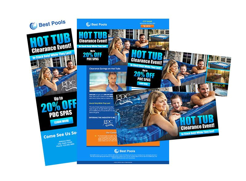 Hot Tub Clearance Marketing Campaign