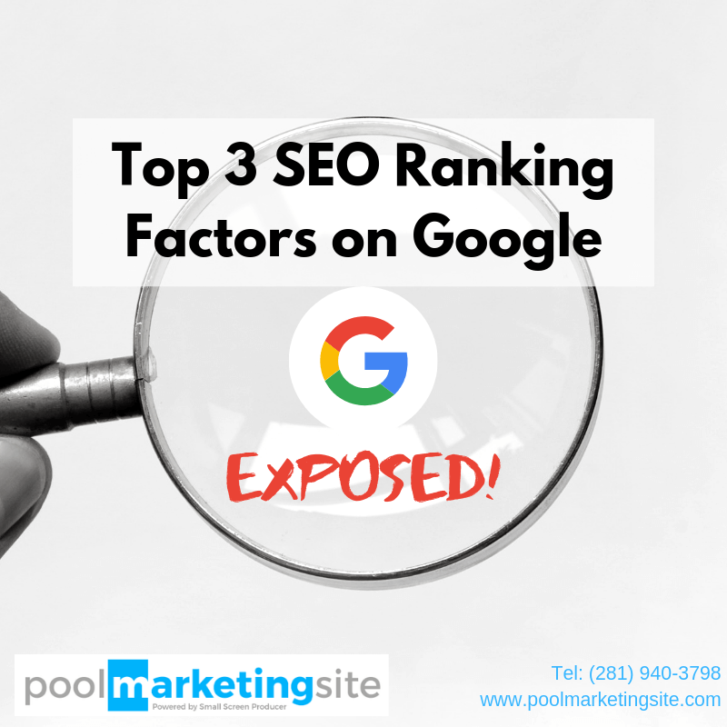Top 3 SEO Ranking Factors on Google Exposed!
