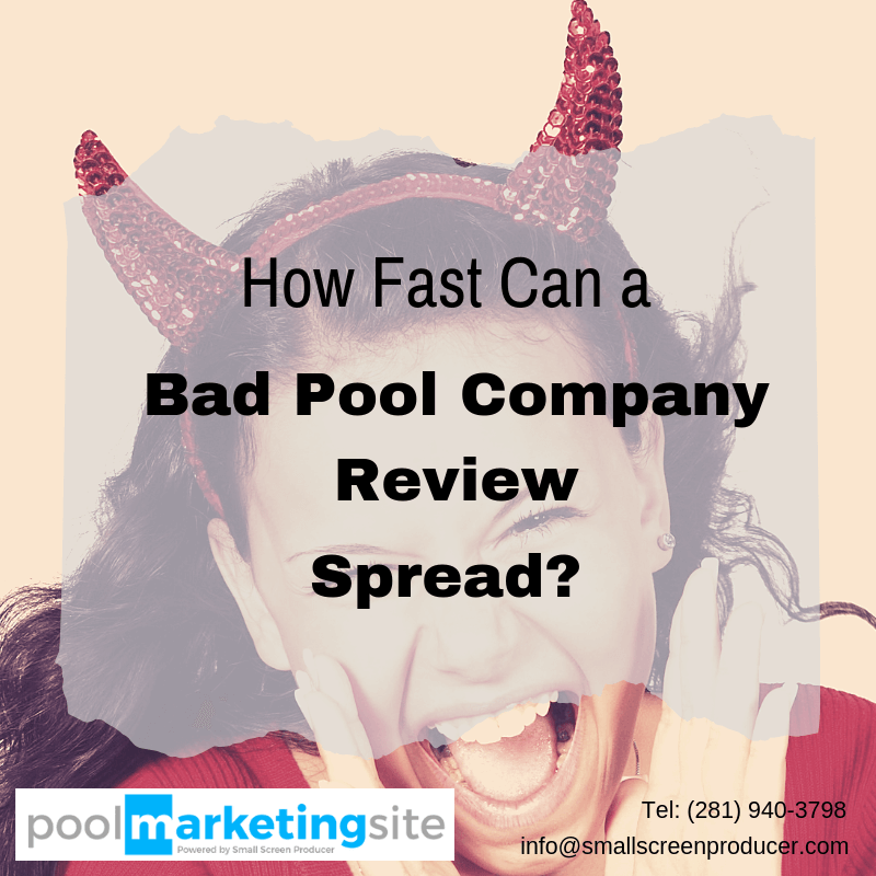 How Fast Can a Bad Pool Company Review Spread?