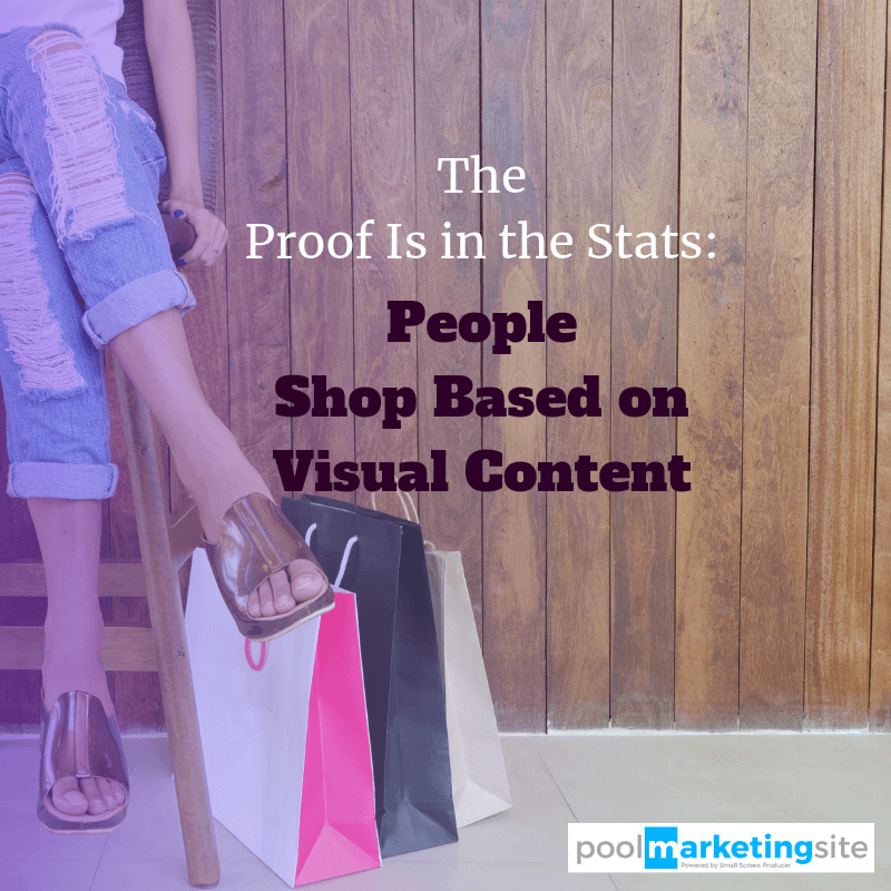 The Proof Is in the Stats: People Shop Based on Visual Content