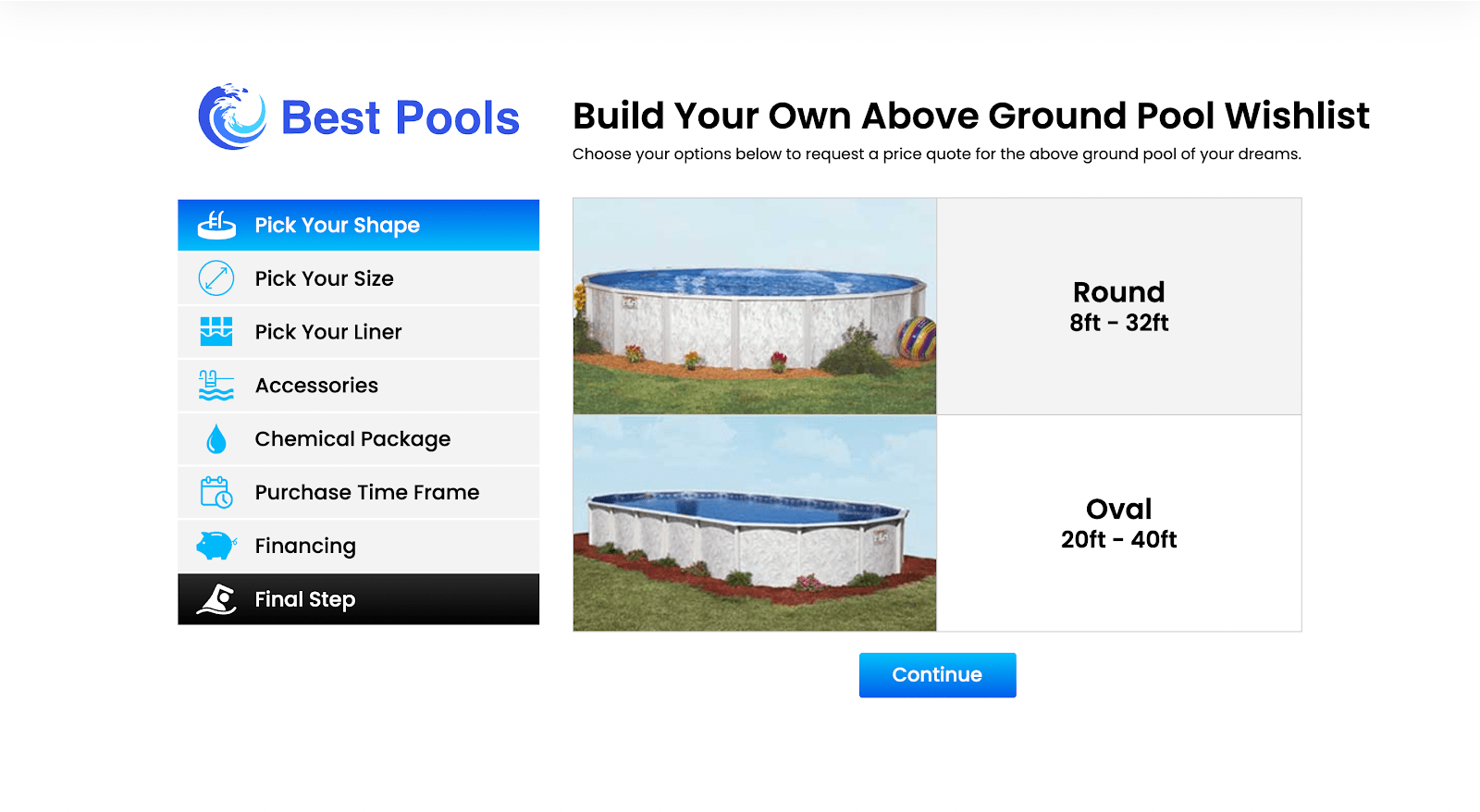 Build Your Own Above Ground Pool Wishlist