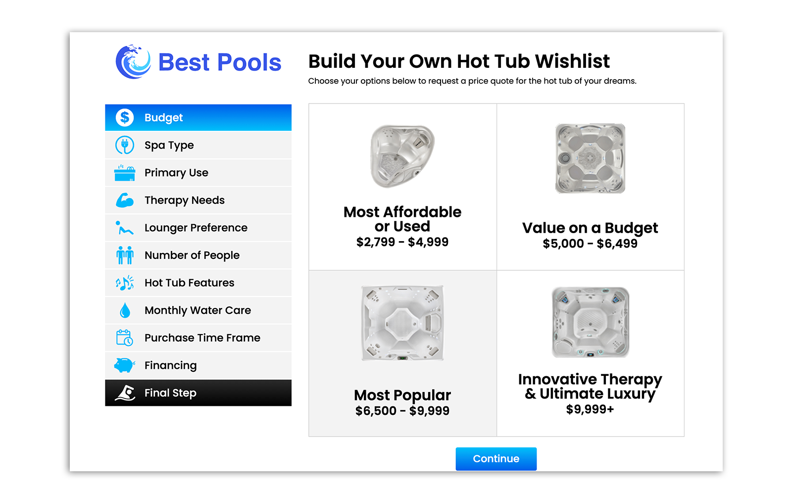 Build Your Own Hot Tub Wishlist