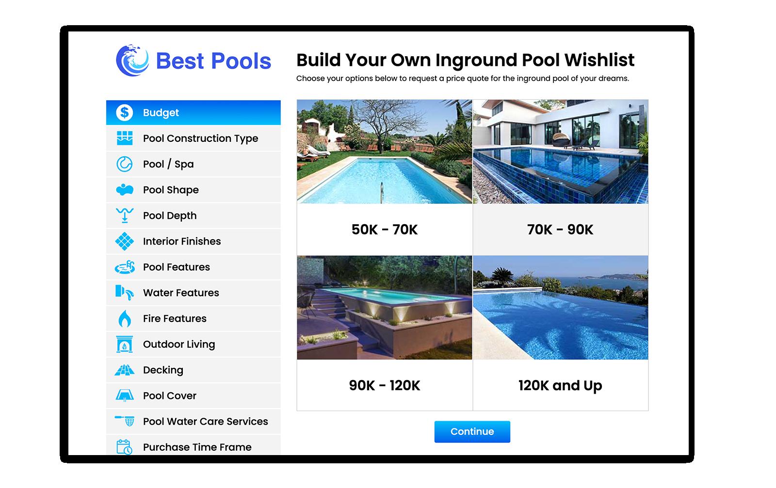 Build Your Own Inground Pool Wishlist