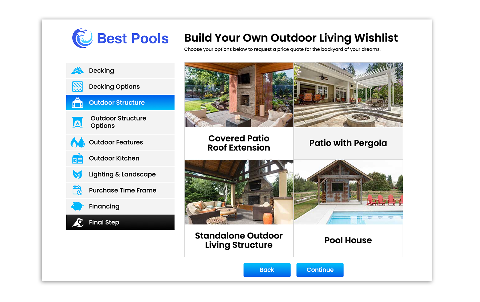 Build Your Own Outdoor Living Wishlist
